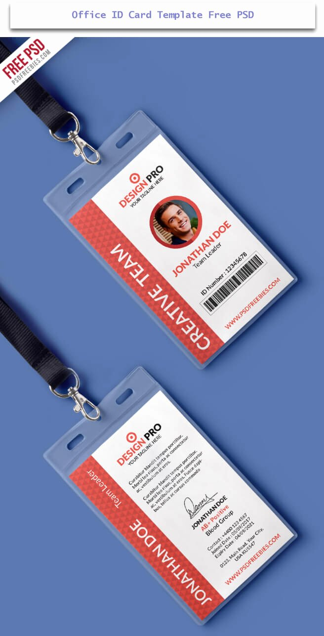 Id Card Templates Luxury 30 Creative Id Card Design Examples with Free Download