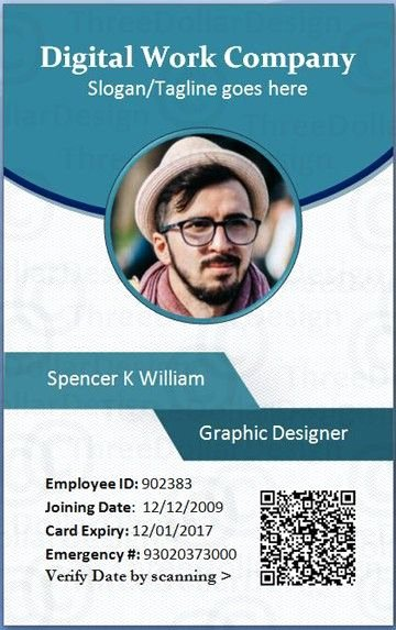 Id Card Templates Luxury Employee Id Card Template Microsoft Word for
