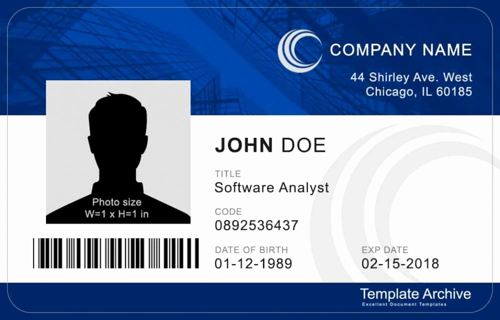 Id Card Templates New 16 Id Badge & Id Card Templates Free Template Archive