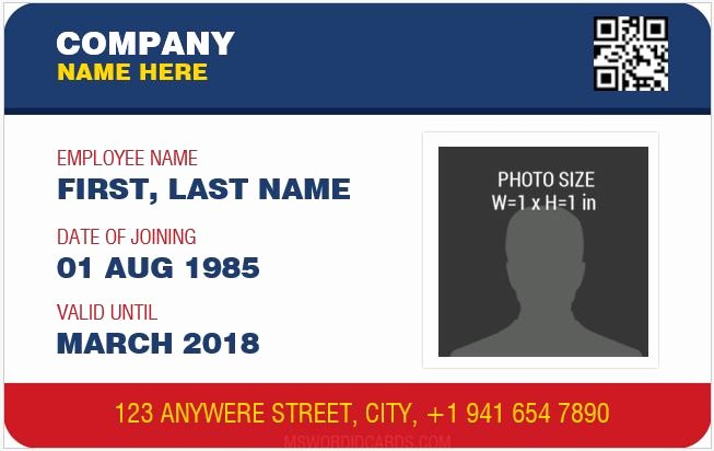 Id Card Templates Unique 10 Best Staff Id Card Templates Ms Word
