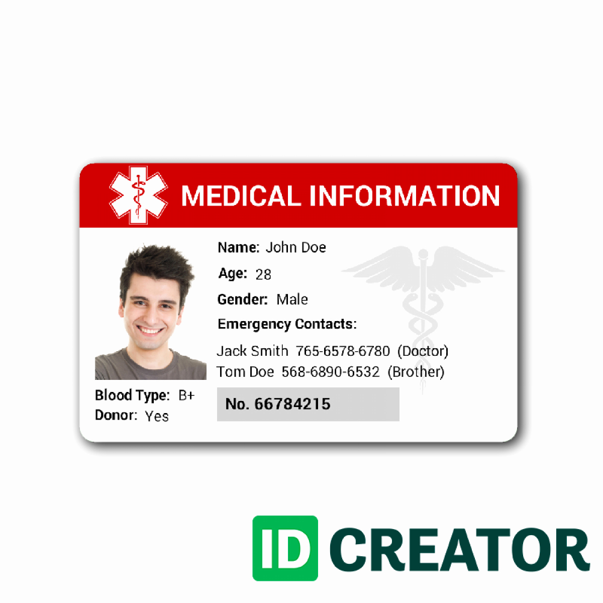 Id Card Templates Unique Id Card Template