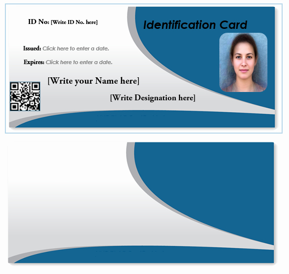 Id Cards Templates Awesome Id Card Template