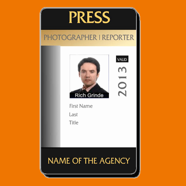 Id Cards Templates Awesome Press Pass Template Microsoft Word Free Download the