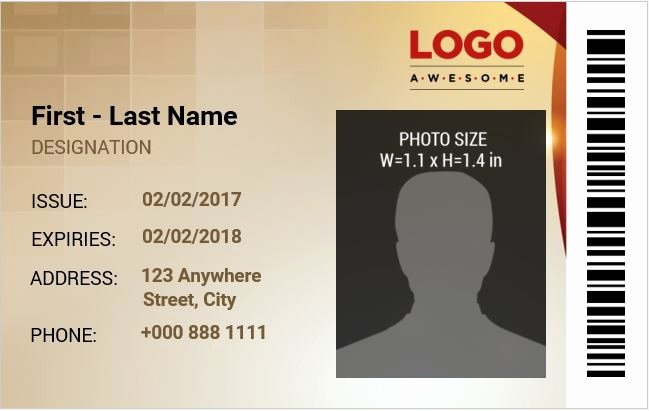 Id Cards Templates Elegant Employee Identification Card Templates Ms Word