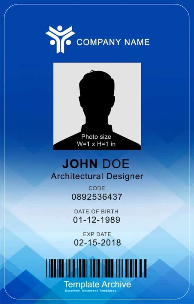 Id Cards Templates Lovely 16 Id Badge & Id Card Templates Free Template Archive