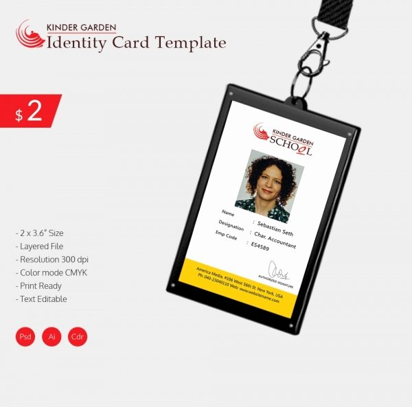 Identity Card Template Awesome 18 Id Card Templates – Free Psd Documents Download