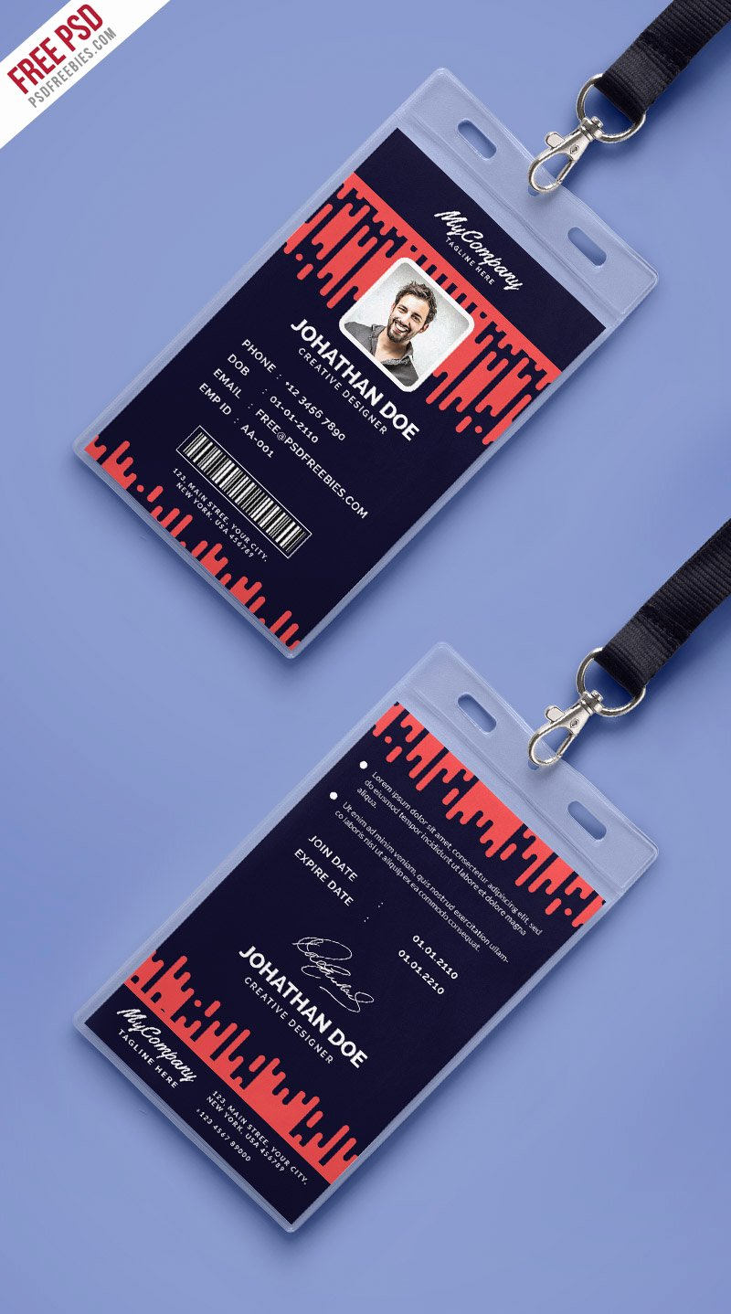 Identity Card Template Best Of Corporate Pany Identity Card Template Psd