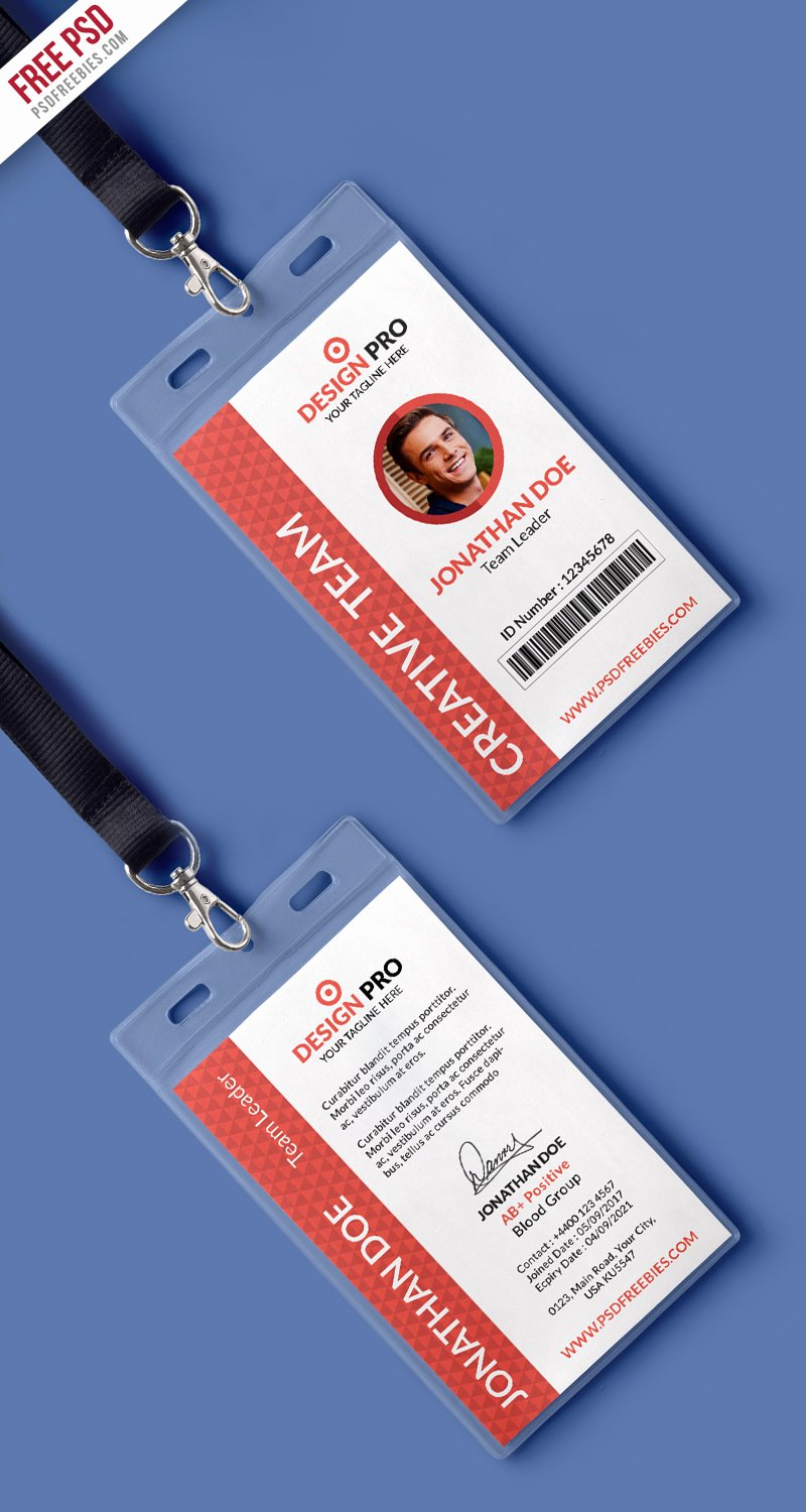 Identity Card Template Best Of Fice Identity Card Template Psd