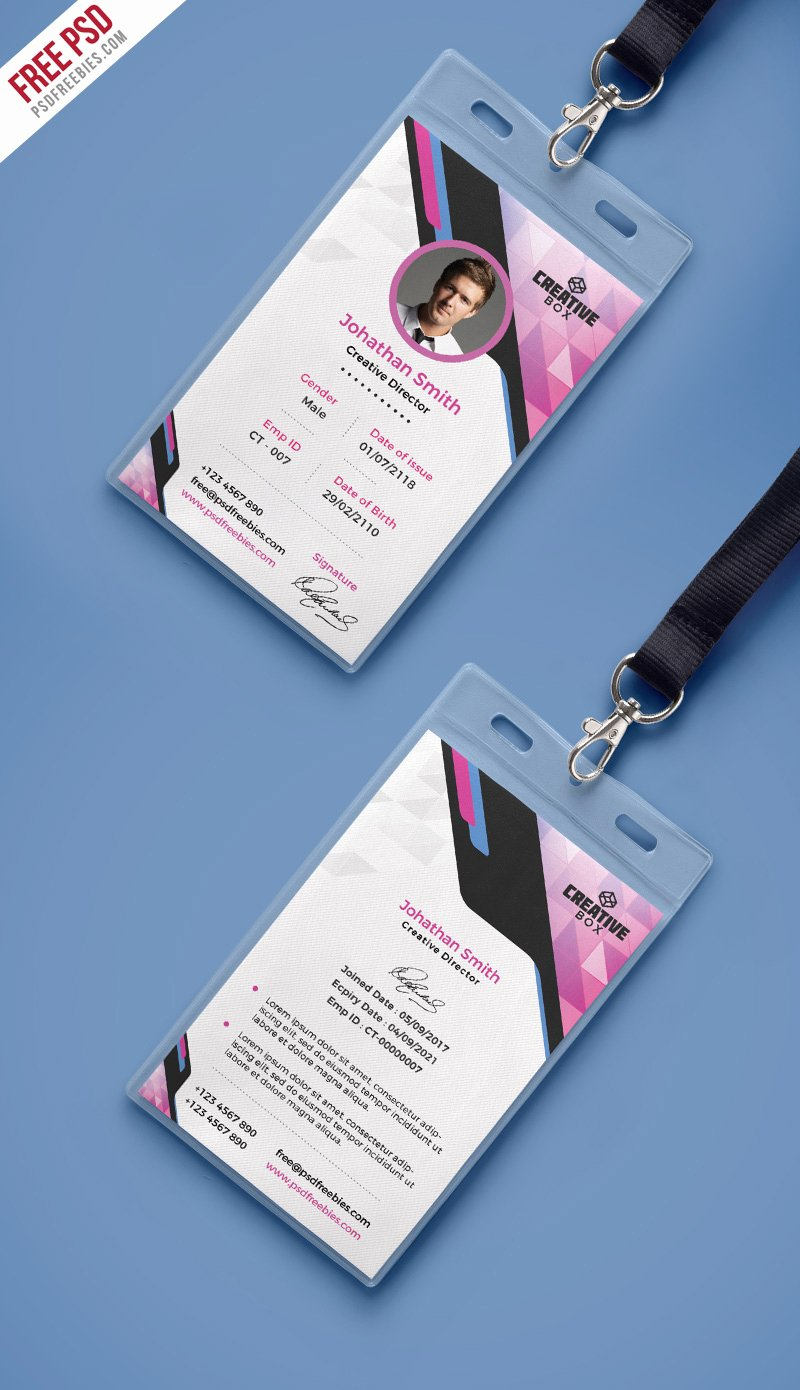 Identity Card Template Fresh Pany Identity Card Psd Template