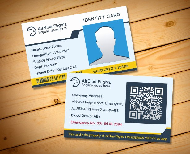 Identity Card Template Inspirational 2 Free Pany Employee Identity Card Design Templates