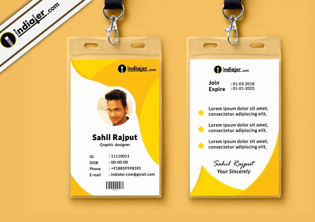 Identity Card Template Inspirational Multipurpose Corporate Fice Id Card Free Psd Template