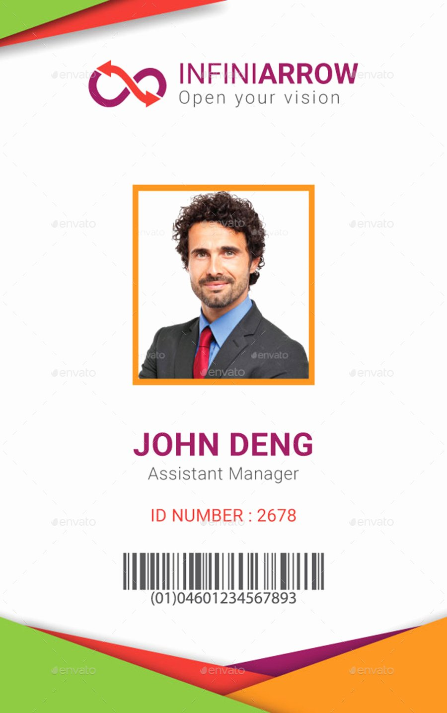 Identity Card Template Lovely Multipurpose Business Id Card Template by Dotnpix