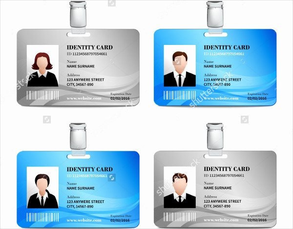Identity Card Template Luxury 32 Id Card Templates Word Psd Ai Pages