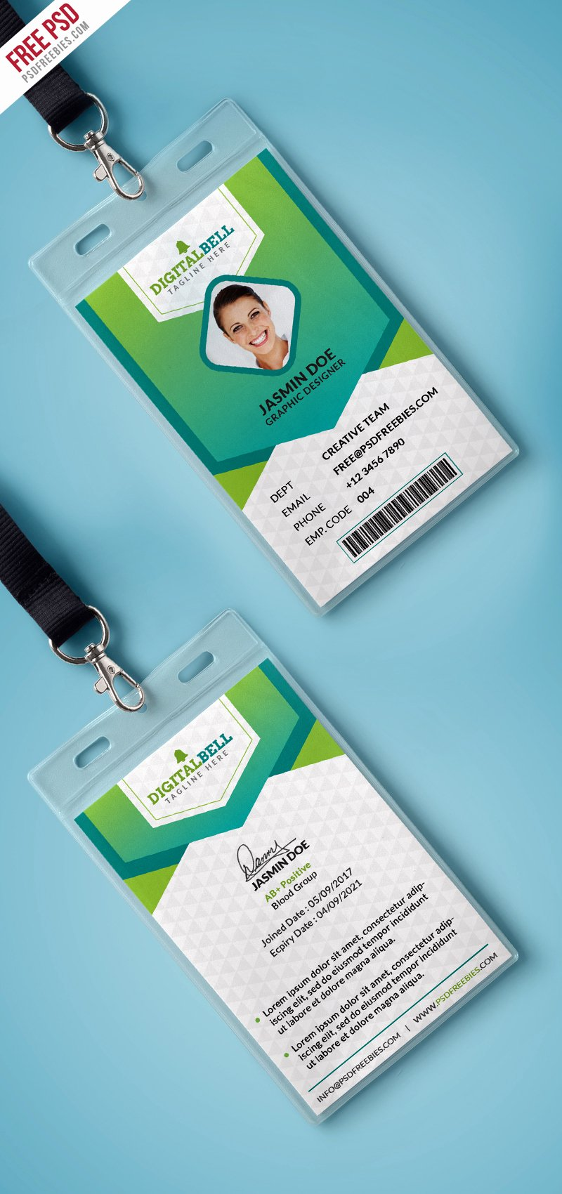 Identity Card Template Luxury Multipurpose Identity Card Template Psd