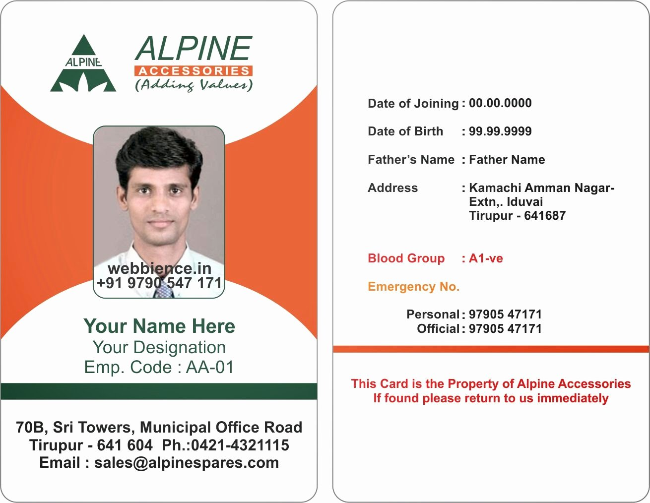 Identity Card Template New Template Galleries Employee Id Card Templates C