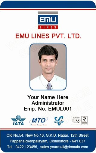 employee id card templates