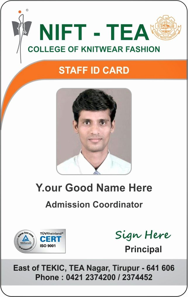 Identity Card Template New Template Galleries New Student and Staff Id Card Template