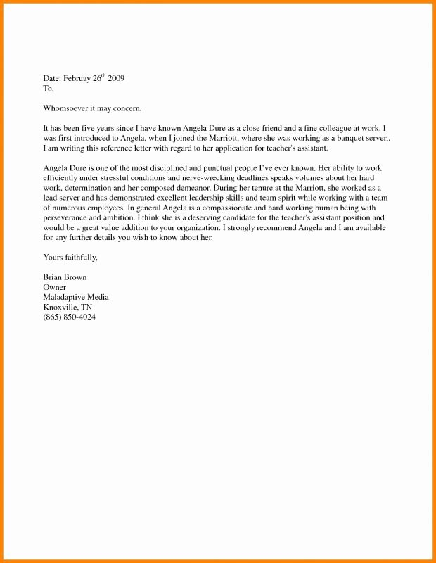 Immigration Recommendation Letter Sample Awesome Support Letter Sample for Immigration