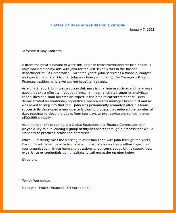 Immigration Recommendation Letter Sample Fresh 6 Immigration Letter Of Re Mendation for A Friend