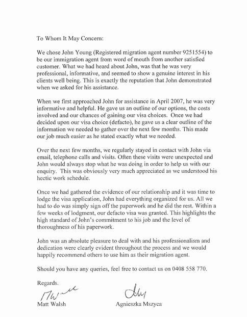 Immigration Recommendation Letter Sample Unique Letter Re Mendation for Immigration