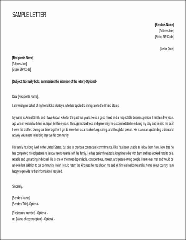 Immigration Recommendation Letter Sample Unique Steps to Writing A Reference Letter for Immigration