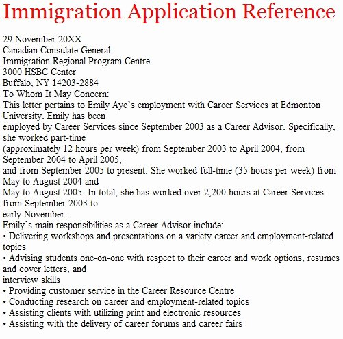 Immigration Reference Letter Example Luxury Letters Of Reference October 2012
