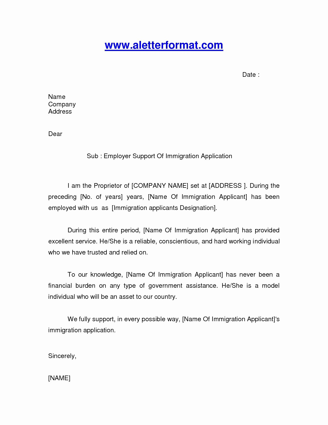 Immigration Reference Letter Sample Fresh 15 Immigration Letter
