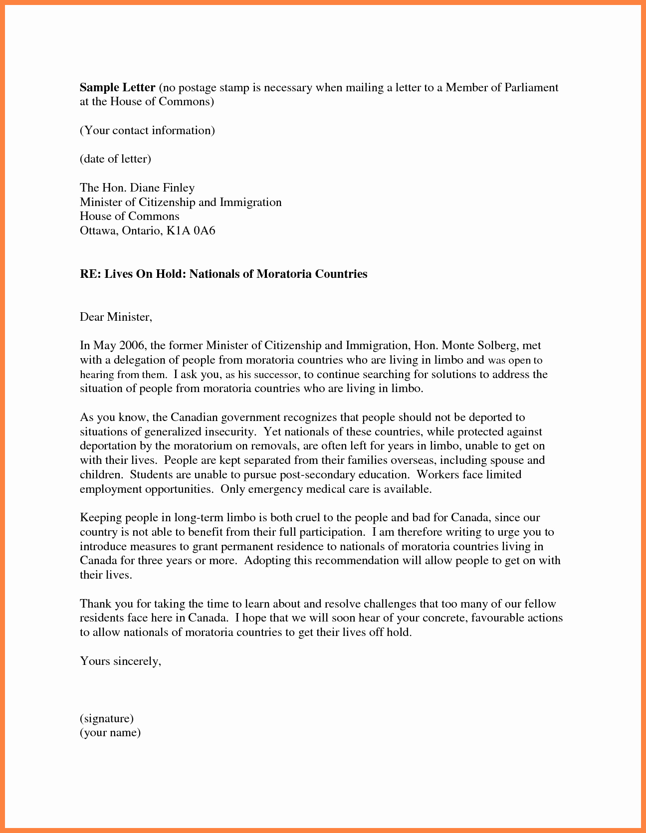 Immigration Reference Letter Template New 7 Personal Re Mendation Letter for Immigration Sample