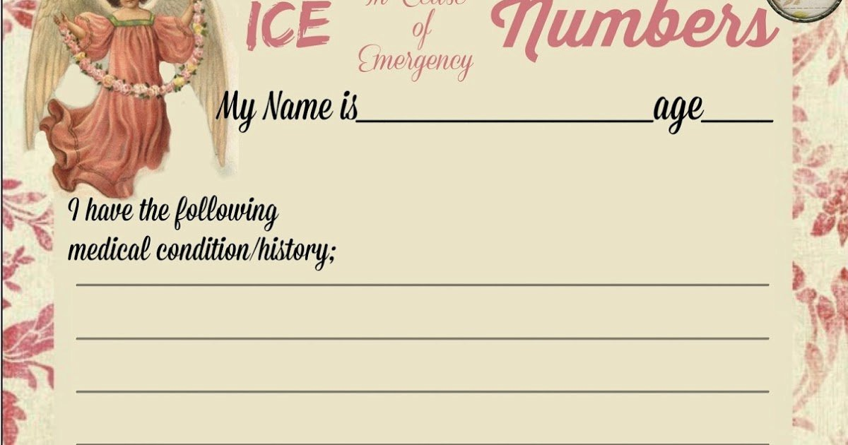 In Case Of Emergency form Best Of Glenda S World Ice In Case Of Emergency form