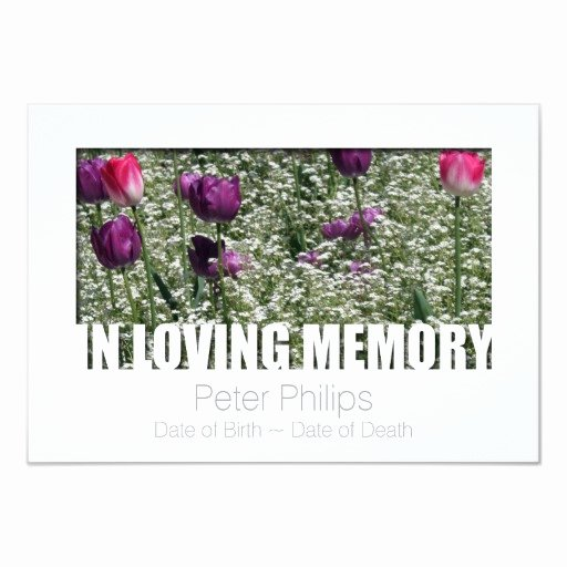 In Loving Memory Card Template Beautiful In Loving Memory Template 11 Celebration Of Life 3 5x5