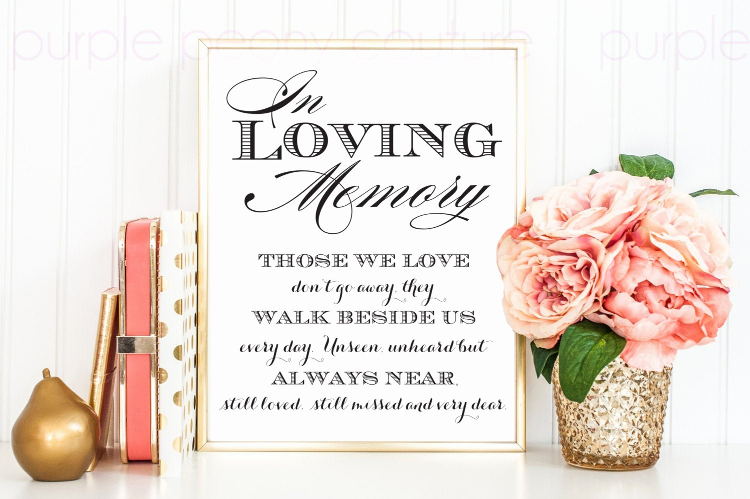 in loving memory wedding sign memorial