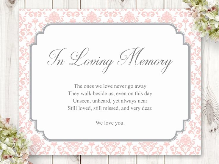 "In Loving Memory Card Template Elegant 22 Best Wedding Invitation Templates ""floral Damask"