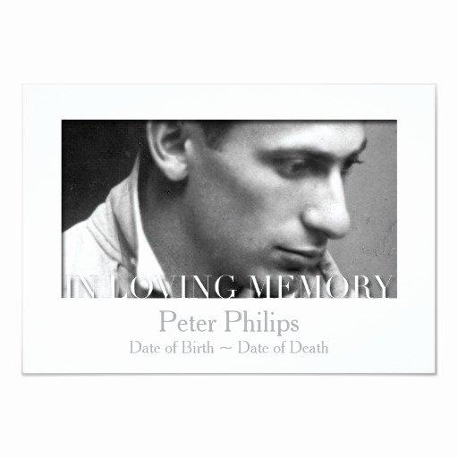 In Loving Memory Card Template Elegant In Loving Memory Template Celebration Of Life Custom