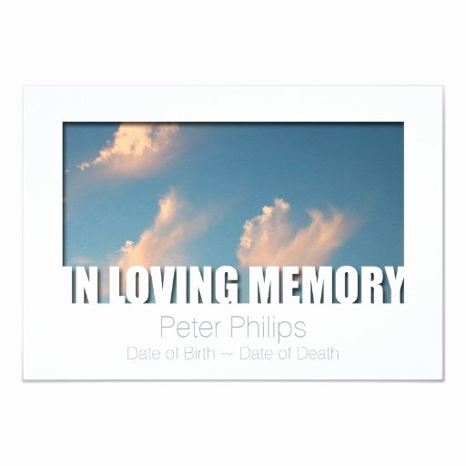 "In Loving Memory Card Template Inspirational In Loving Memory Template 5 Celebration Of Life 3 5"" X 5"