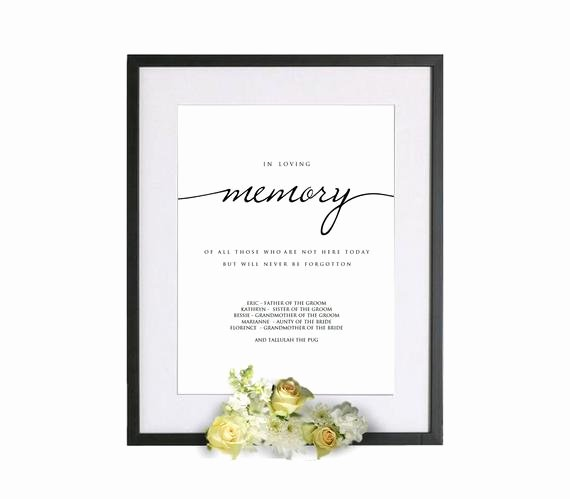 In Loving Memory Card Template Lovely Printable In Loving Memory Wedding Template In Loving Memory
