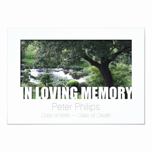 In Loving Memory Card Template New In Loving Memory Template 7 Celebration Of Life Card
