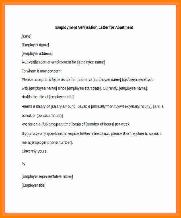 Income Verification Letter for Apartment Awesome 7 Salary Confirmation Letter