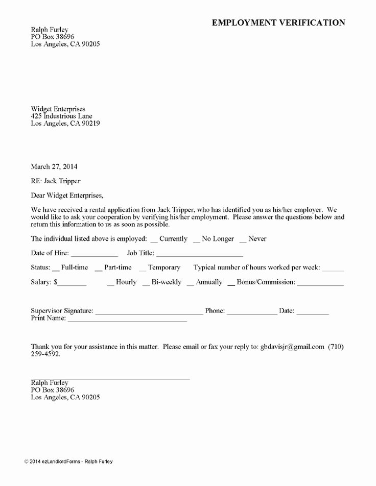 Income Verification Letter for Apartment Inspirational Printable Sample Rental Verification form form