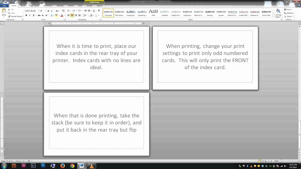 Index Cards Template for Word New Note Index Cards Word Template