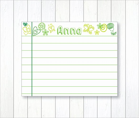 Index Cards Template for Word Unique Index Card Template – 6 Free Printable Word Pdf Psd