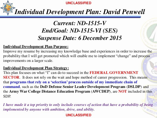individual development plan david penwell
