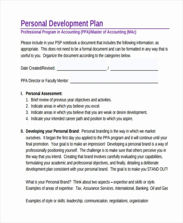 Individual Development Plan Sample New 64 Development Plan Examples & Samples In Pdf