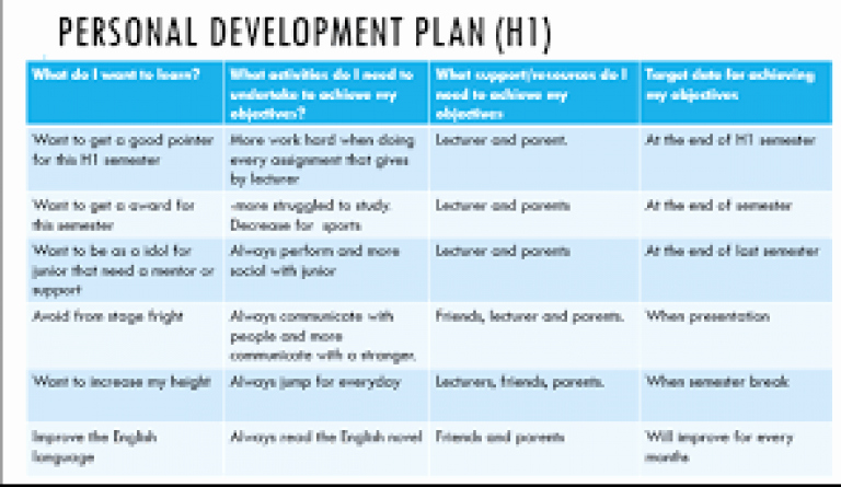 Individual Development Plan Sample New Personal Professional Development Plan