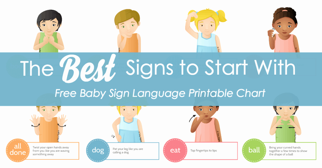 Infant Sign Language Chart Beautiful Baby Sign Language Best Signs to Start with