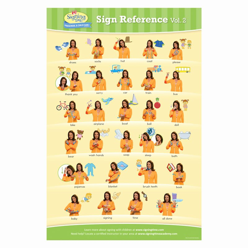 Infant Sign Language Chart Fresh Baby Signing Time Chart 2 Baby Sign Language Chart