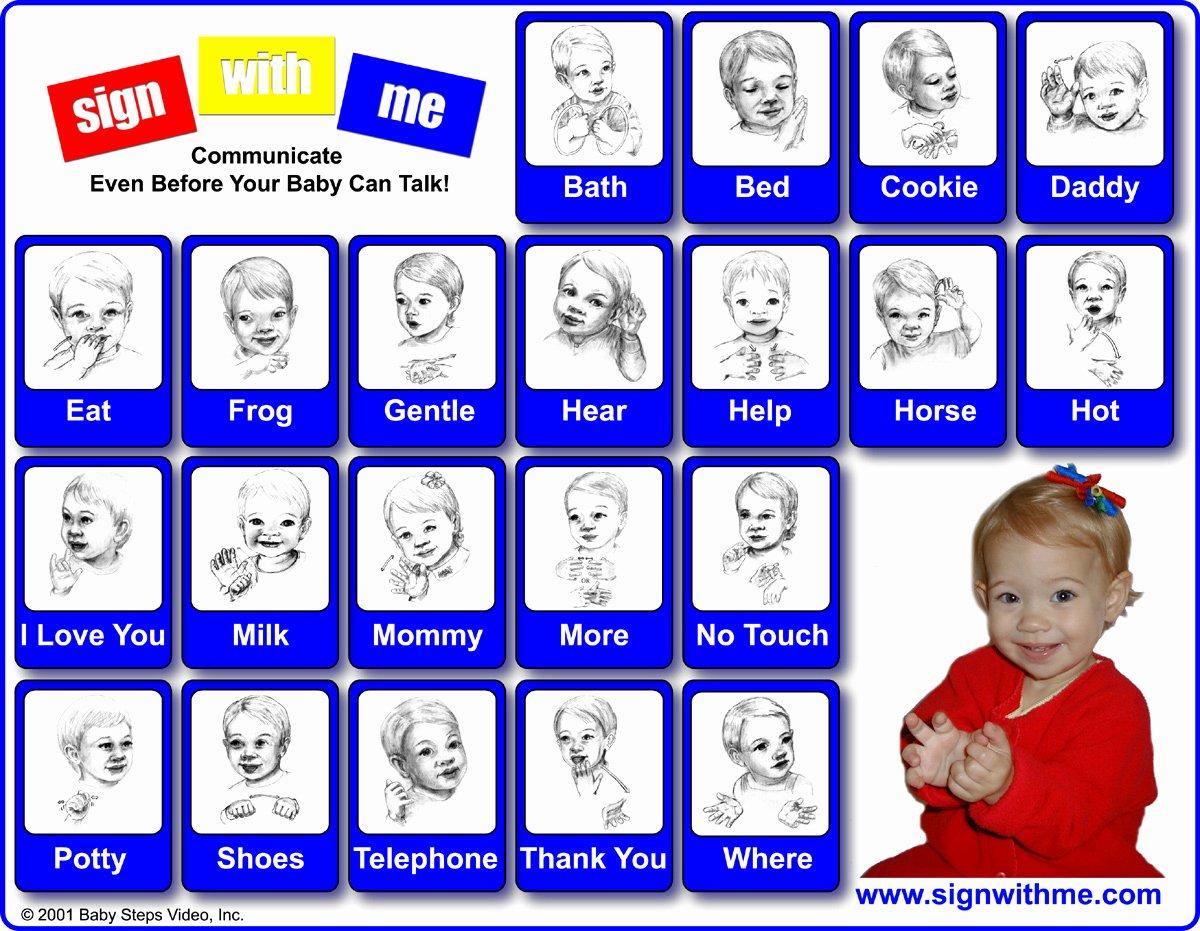 Infant Sign Language Chart Inspirational Baby Sign Language