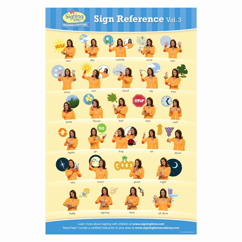 Infant Sign Language Chart Luxury Baby Signing Time Chart 3 Baby Sign Language Chart