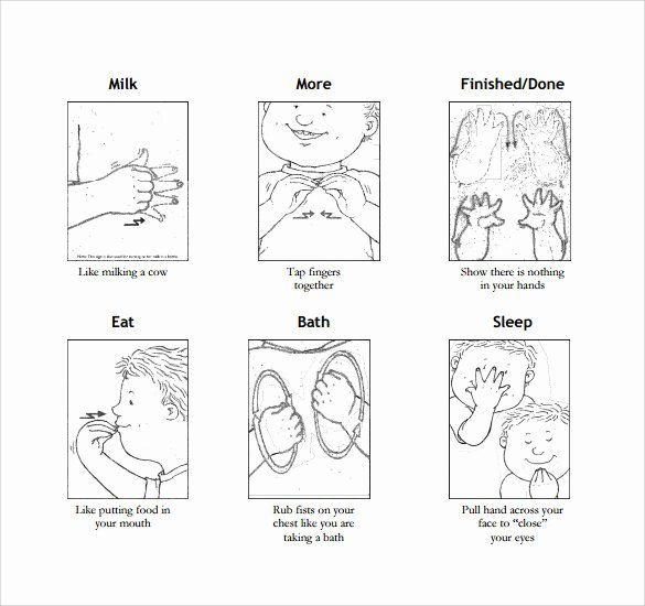 Infant Sign Language Chart Luxury Download Estimation In Regression Models with Externally