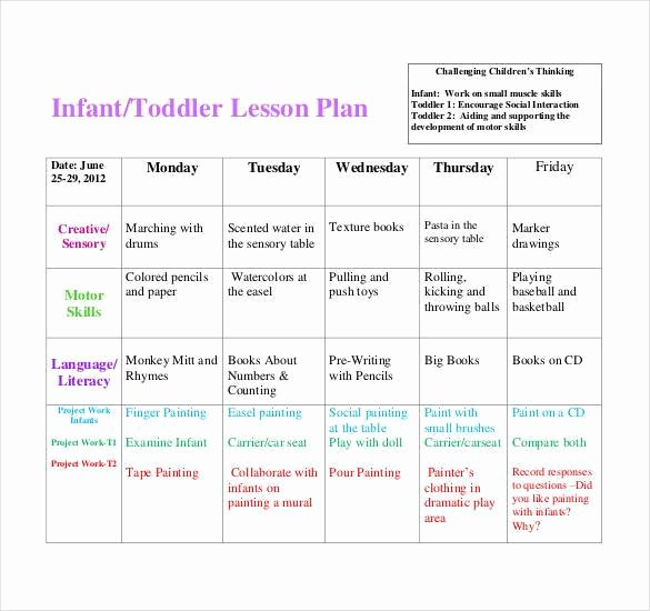 Infant Weekly Lesson Plan Beautiful 59 Lesson Plan Templates Pdf Doc Excel