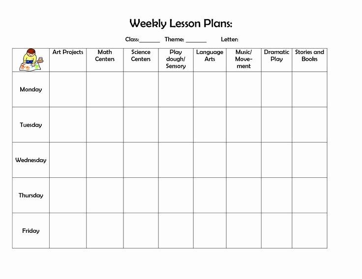 Infant Weekly Lesson Plan Elegant 53 Best Lesson Plan forms Images On Pinterest